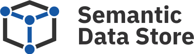Semantic Data Store Logo Blue Black Colored